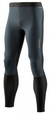 Skins DNAmic Thermal Windproof Mens Long Tights Black/Charcoal