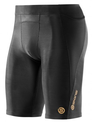 Skins A400  Mens Black Half Tights