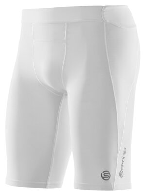 Skins A400  Mens White Half Tights