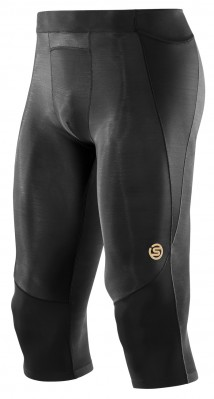 Skins A400  Black Mens 3/4 Tights