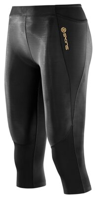 Skins A400 Womens Black 3/4 Tights