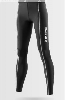 "Skins Snow Womens Black/Silver Long Tights - pouze vel. ""L"""