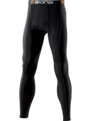 Skins  Snow Thermal  Mens  Black/Orange  Long Tights