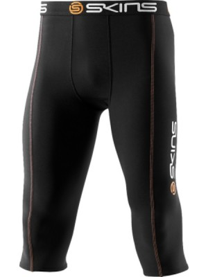Skins Snow Thermal Mens Black/Orange 3/4 Tights