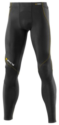 Skins Bio A400 Mens Black/Yellow Long Tights