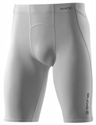 Skins Bio A400 Mens White Half Tights