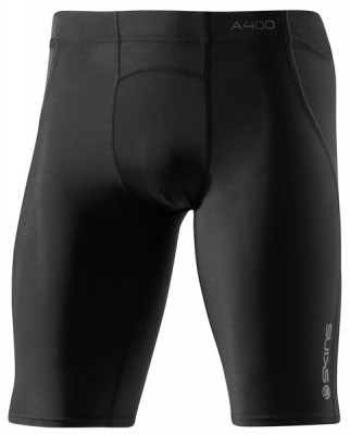 Skins Bio A400 Mens Black/Charcoal Half Tights