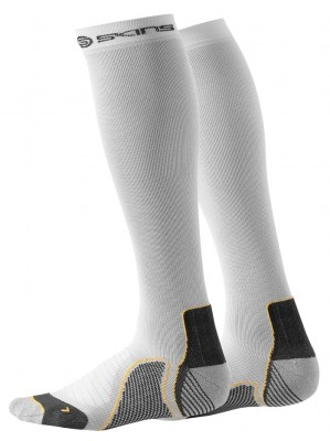 Skins Active Unisex White Compression Socks