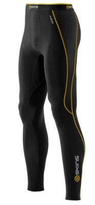 Skins Bio A200 Mens Black Thermal long tights