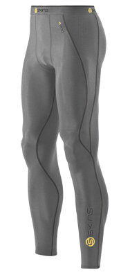"Skins Bio A200 Mens Grey Marl long tights - pouze ""L"""