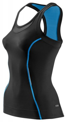Skins Bio A200 Womens Black/Blue Racer back top