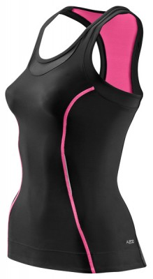 Skins Bio A200 Womens Black/Pink Racer back top
