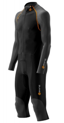 Skins Bio S400 - Thermal Mens Black/Graphite/Orange All-in-one