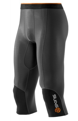 Skins Bio S400 - Thermal Mens Black/Graphite/Orange 3/4 Tights