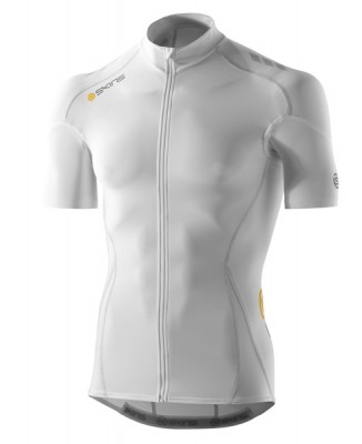 Skins Cycle  Mens White/Grey Compresn S/S Jersey