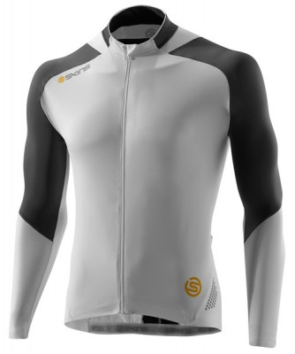 Skins Cycle  Mens White/Grey L/S Jersey