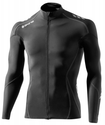Skins Cycle Mens Black/Grey Compresn L/S Jersey