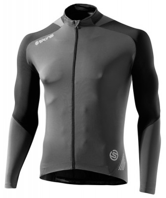 Skins Cycle  Mens Black/Grey L/S Jersey