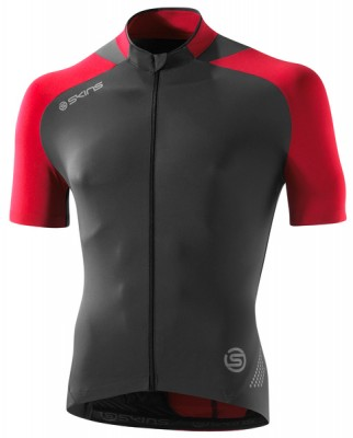 Skins Cycle Mens Red/Grey S/S Jersey