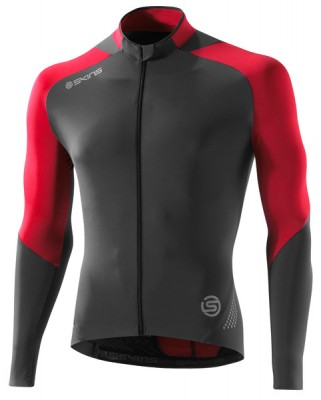 Skins Cycle Mens Red/Grey L/S Jersey