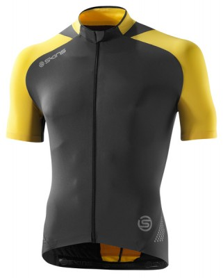 Skins Cycle Mens Yellow/Grey S/S Jersey
