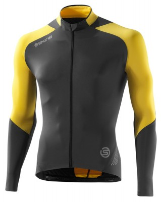 Skins Cycle Mens Yellow/Grey L/S Jersey