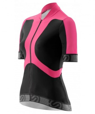 Cycle Womens Black/Pink S/S Jersey Tremola
