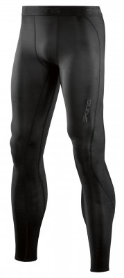 Skins DNAmic Mens Long Tights Black/Black