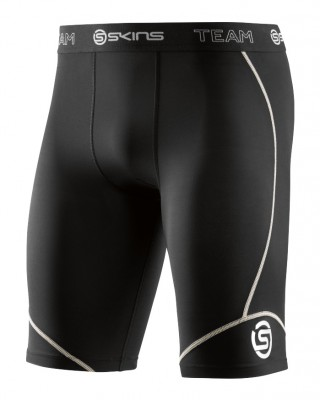 Skins DNAmic Team Mens Half Tights Black