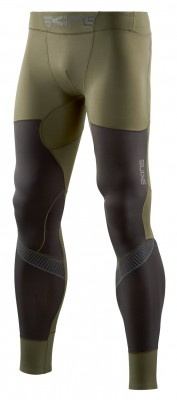 Skins DNAmic Ultimate (A400) Starlight Mens Long Tights Utility/Charcoal - kompresní kalhoty