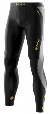 Skins DNAmic Thermal Mens Compression Long Tights Black/Pewter