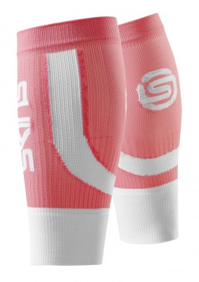 Skins  Essentials Seamless Unisex Calftights Fluro Peach/White