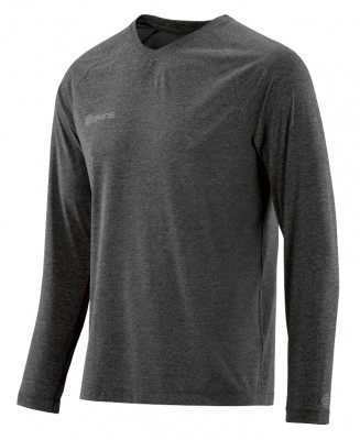 Skins Plus Micron Mens Long Sleeve Tee Black/Marle