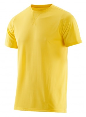 SKINS Activewear Avatar Mens Top Short Sleeve Round Neck Citron/Marle