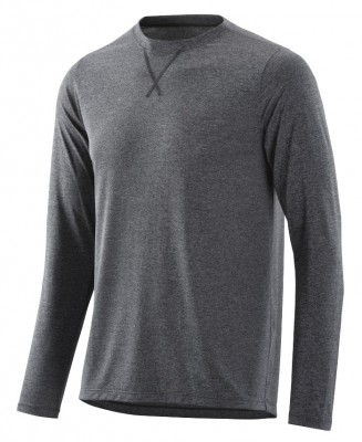"SKINS Activewear Avatar Mens Top Long Sleeve Round Neck Black/Marle - pouze vel.""S"""