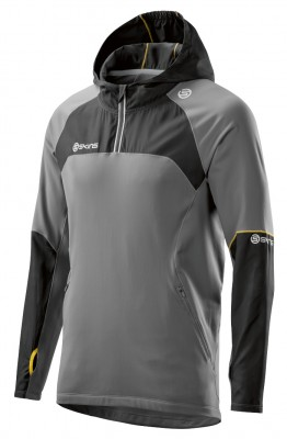 Skins PLUS Nimbus Mens Long Sleeve Hoodie Black/Pewter