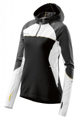 Skins PLUS Orion Womens Long Sleeve Hoodie Black/Cloud