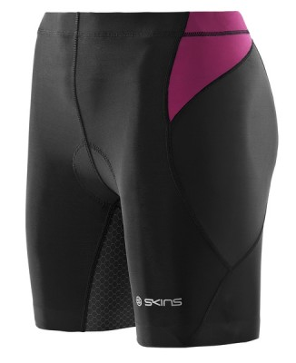 Skins TRI 400 Womens Black/Orchid Shorts