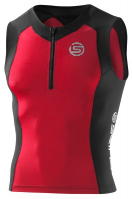 Skins TRI 400 Mens Black/Red Top Sleeveless