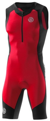 Skins TRI 400 Mens Black/Red Sleeveless Suit
