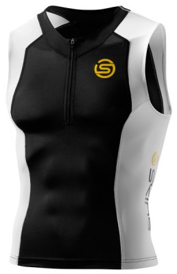 Skins TRI 400 Mens Black/White Top Sleeveless