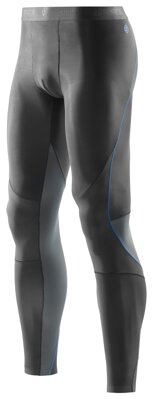Skins Bio RY400 Mens Graphite/Blue Long Tights