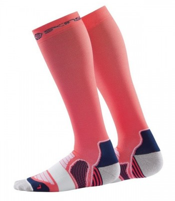 Skins Essentials Womens Comp Socks Active Midw Pomelo/Midnight