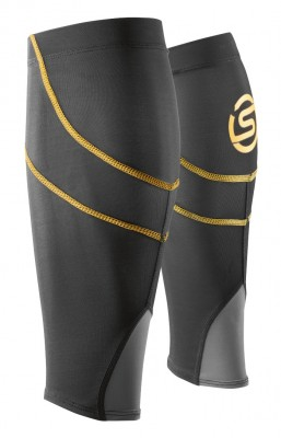 Skins Essential Black/Yellow Calftights mx (Unisex)