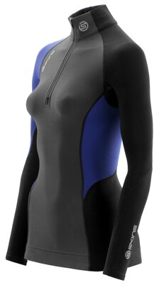 "Skins S400 Thermal Womens Graphite/Black L/S Top - pouze velikost ""S"""