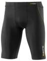 Skins Bio A400 Mens Black/Yellow Half Tights