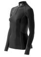 Skins Bio S400 - Thermal Womens Black/Graphite/White L/S MckNeck w zip