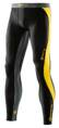 Skins DNAmic Mens Long Tights Black/Citron