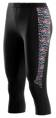 "Skins S400 Thermal Womens Black/Multiprint 3/4 Tights - pouze velikost ""S"""